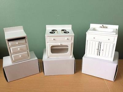 Dolls House Miniatures Dijon Kitchen Sink Cooker & Drawers 12Th