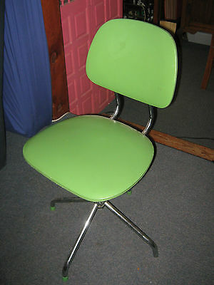 Vintage Retro Lime Green Adjustable Adolescent Office Computer Chair
