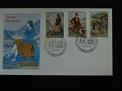 Spanish Andorra Stamp SG 113/115 set of 3 on illustrated First Day Cover 14-2-79