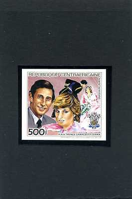 1981-Royal Wedding-Central African Rep-Set Of 1 Value- New Design-Imperf-Mnh