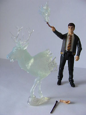 Harry Potter Loose Figure Harry Potter with Wand & Patronus Order of the Phoenix