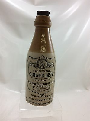 Duncan Flockhart & Co Ginger Beer Stoneware Bottle with a Stopper Empty
