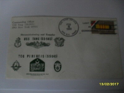 US 1980 Cacheted de-Commission Cover USS TANG (SS-563)