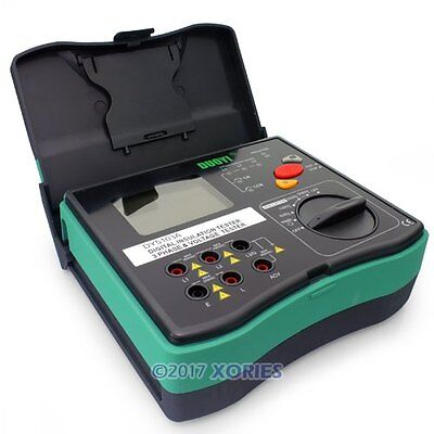 Digital Insulation Resistance Megohm Phase Sequence Tester Meter 5000V 200GΩ New