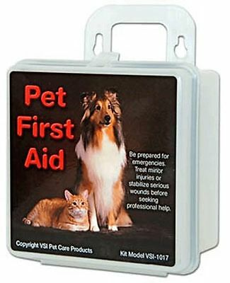 First Aid Kit for Pets with Case Travel Home Use Gauze Bandages Swabs Cat Dog