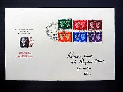 GB 1940 Stamp Centenary Robson Lowe FDC with Special Red Cancellation FP9284