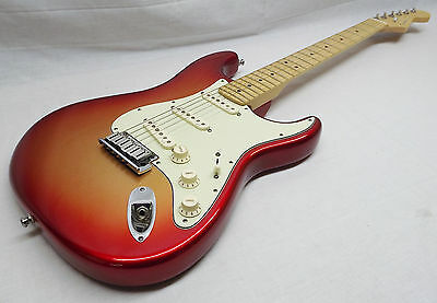 Fender American Deluxe Stratocaster Guitar - Sunset Metallic - With Hard Case