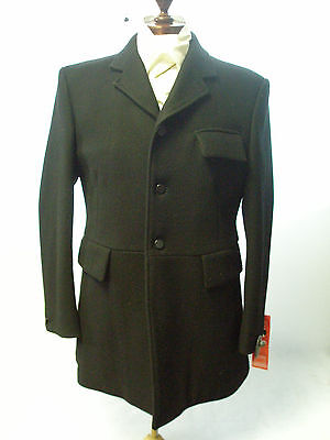 "Pytchley Mears Men's Cottensmore Hunting Coat Black In Sizes 40""- 50"""