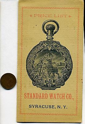1880s Standard Watch Co. Syracuse, N. Y., illustrated price list of watches