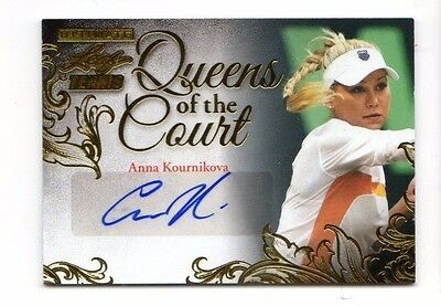 Anna Kournikova 2015 Ultimate Tennis Queen Of The Court Autograph Gold Etch #/10