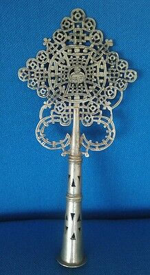 Ethiopian Orthodox Coptic Processional Cross,Hand Crafted, African