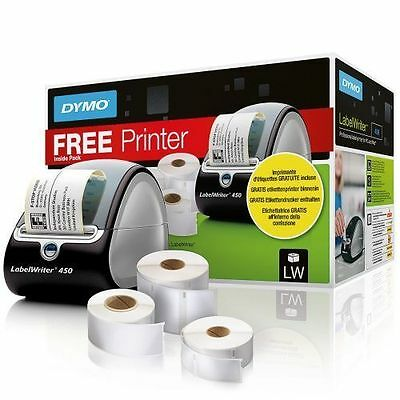 DYMO LabelWriter 450 Label Writer + 3x Labels 51 lpm, Black VAT inc - Free post