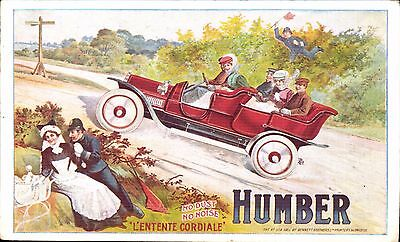 Advertising. Humber Motor Cars. L'Ententer Cordiale. Police.