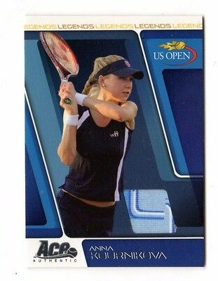 Anna Kournikova Tennis 2008 Ace Authentic Us Open Memorabilia Card #03 /75