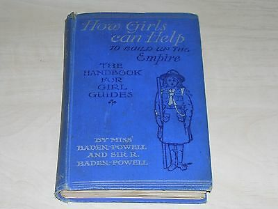 antique book how girls can help to build up the empire handbook for girl guides