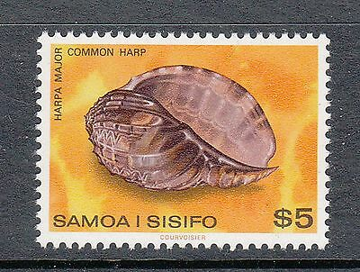 Samoa 1978-80 Shells Mint unhinged $5 high value mint unhinged stamp Common harp