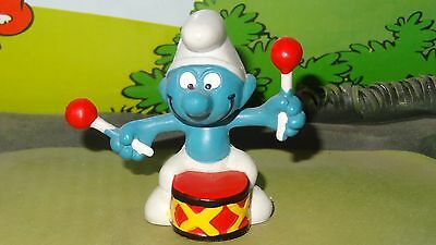 Smurfs Drummer Drum Musical Harmony Smurf Rare Vintage Awesome Toy Figure