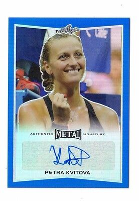 Petra Kvitova 2016 Leaf Metal Tennis Blue # 21 / 25