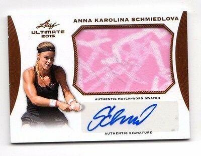 Anna Karolina Schmiedlova  2015 Leaf Ultimate Tennis Match-Worn Autographs