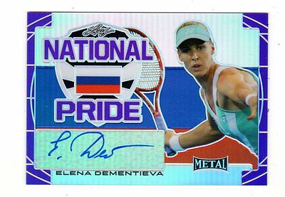 Elena Dementieva 2016 Leaf Metal Tennis National Pride Purple # 11/ 15