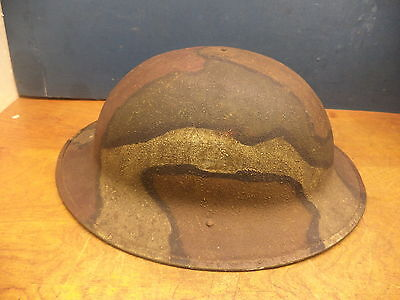 Ww1 Camouflaged Steel Helmet  Camo Is Of The Period  #   192  7 D  Stamped