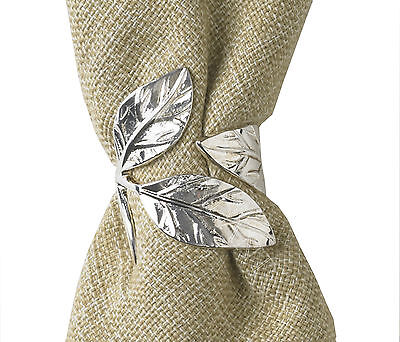 Leaf Silver Plated Napkin Rings by Park Designs, Choice of Sets, Gloss Finish