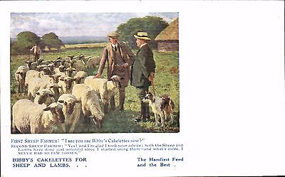 Advertising. Bibby's Cakelettes for Sheep & Lambs. From D.Bell & Sons, Brampton.