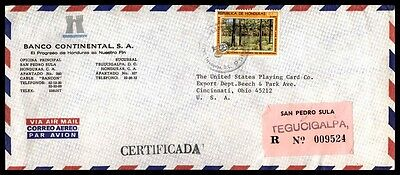 Continental Bank commercial airmail cover to Cincinnati Ohio USA