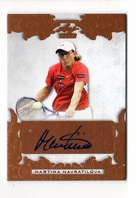 Martina Navratilo 2015 Leaf Ultimate Tennis  Autograph
