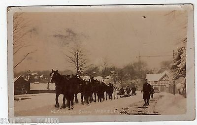 Lancashire, Manchester, Worsley, Ploughing The Snow, 1907, Rp