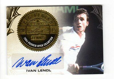 Ivan Lendl 2015 Leaf Ultimate Tennis Big Finish Signatures Gold Etched Foil #/10
