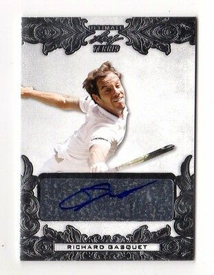 Richard Gasquet 2015 Leaf Ultimate Tennis Silver Etched Foil Autograph  23 / 25