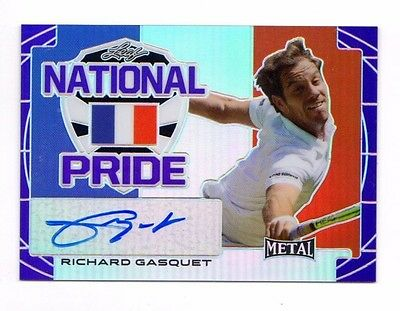 RICHARD GASQUET 2016 LEAF METAL TENNIS NATIONAL PRIDE PURPLE #ed 03 / 15