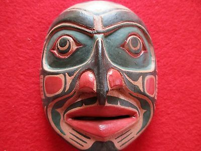 Northwest Coast Ceremonial Mask .... Hand Carved & Painted Mask, #wy-00347