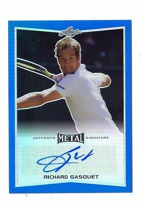 Richard Gasquet 2016 Leaf Metal Tennis Blue Autograph  # 08 / 25