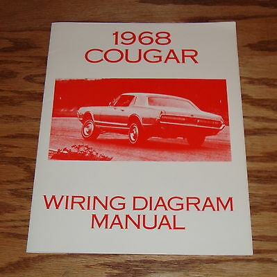 1968 cougar wiring diagram manual 1968 image 1968 mercury cougar wiring diagram manual 68 u2022 aud 12 17 picclick au on 1968 cougar