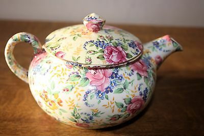 "Very Pretty James Kent Old Foley ""Pink Rose Chintz"" Tea For One English Teapot"
