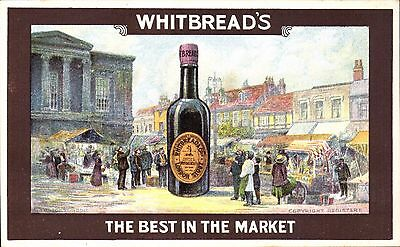 Advertising. Whitbread's London Stout. The Best in the Market. Beer Bottle.