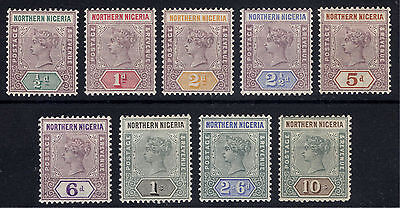 Nigeria Northern 1900 1/2d-10s Definitiv SG 1-9 Scott 1-9 LMM/MLH Cat £550($896)