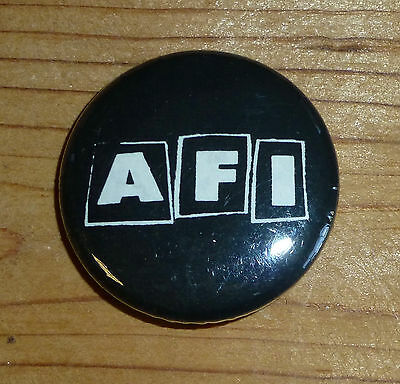 """Vintage 1995 AFI Rare Early Logo 1.25"""" PIN BUTTON my chemical romance.misfits"""
