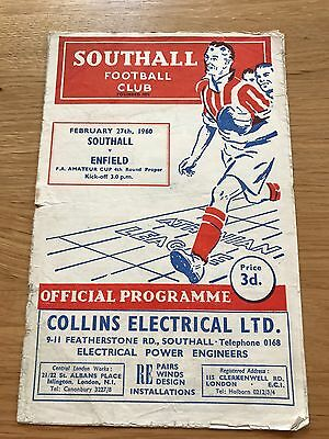 Southall vs Enfield 1960 FA Amateur Cup 4th Round