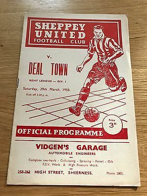 Sheppey United vs Deal Town 1958