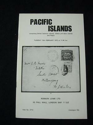 ROBSON LOWE AUCTION CATALOGUE 1973 PACIFIC ISLANDS with GILBERT ELLICE PAPUA ETC