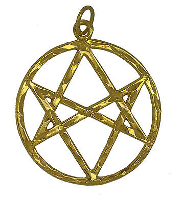 New Celtic Unicursal Hexagram 24K Gold Plated charm pentagram 5 Elements Jewelry