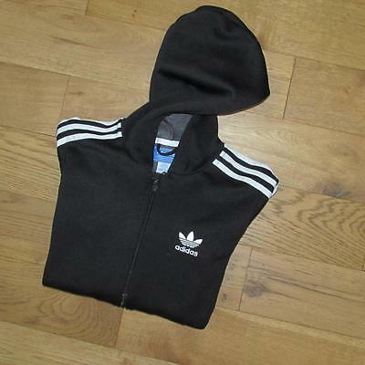 Boys Adidas Originals Hoody Tracksuit Top Track Top Jacket Retro Britpop 14yrs