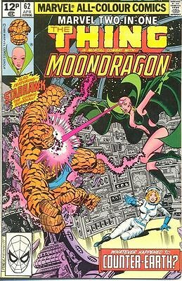 Marvel Two-In-One 62 from 80 - Thing and Moondragon appears