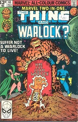 Marvel Two-In-One 63 from 80 - Thing and Adam Warlock? appears