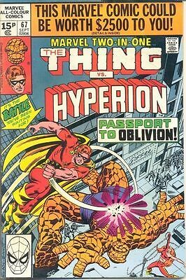 Marvel Two-In-One 67 from 80 - Thing and Hyperion appears