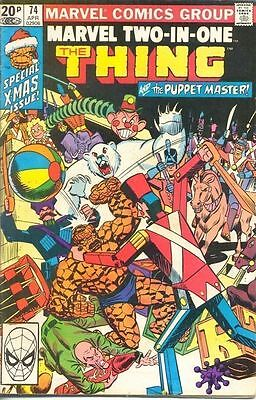 Marvel Two-In-One 74 from 81 - Thing and The Puppet Master appears
