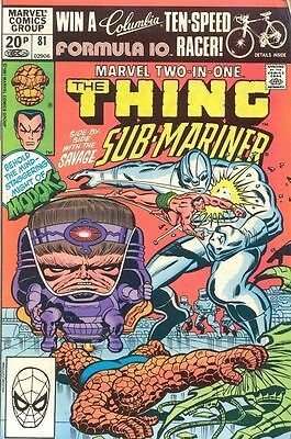 Marvel Two-In-One 81 from 82 - Thing and Sub-Mariner appears